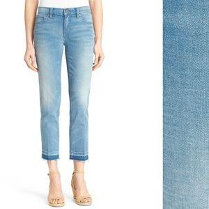 Tory Burch Cropped Fray Hem Skinny Jeans